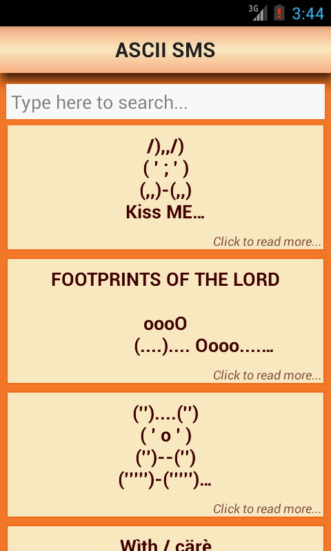 SMS Messages Collection: FREE!- screenshot