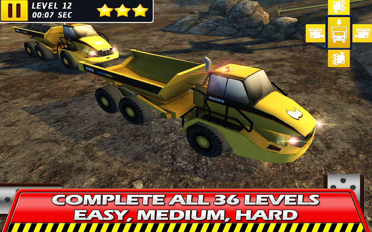 hard mining truck drive u0026 park android apps on google play