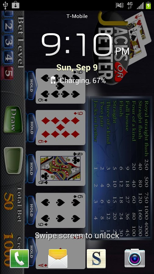 Jacks or Better Video Poker - screenshot