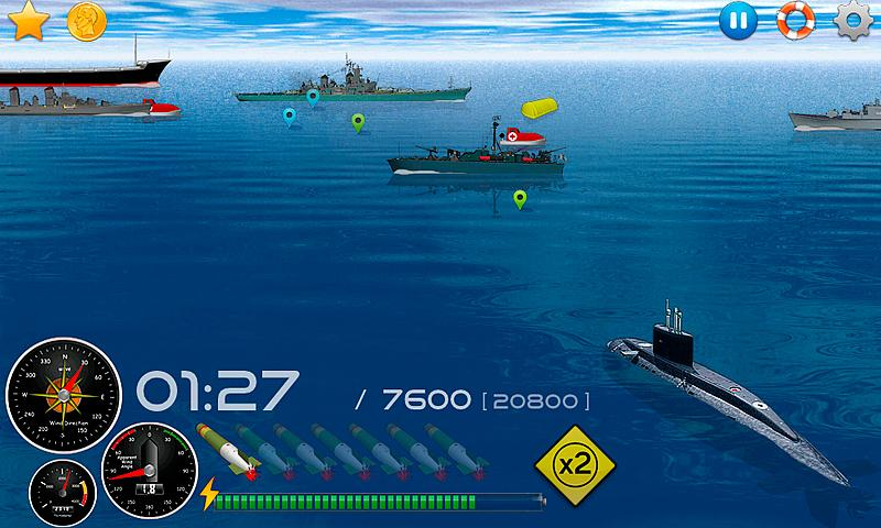 Silent Submarine - Naval war!- screenshot