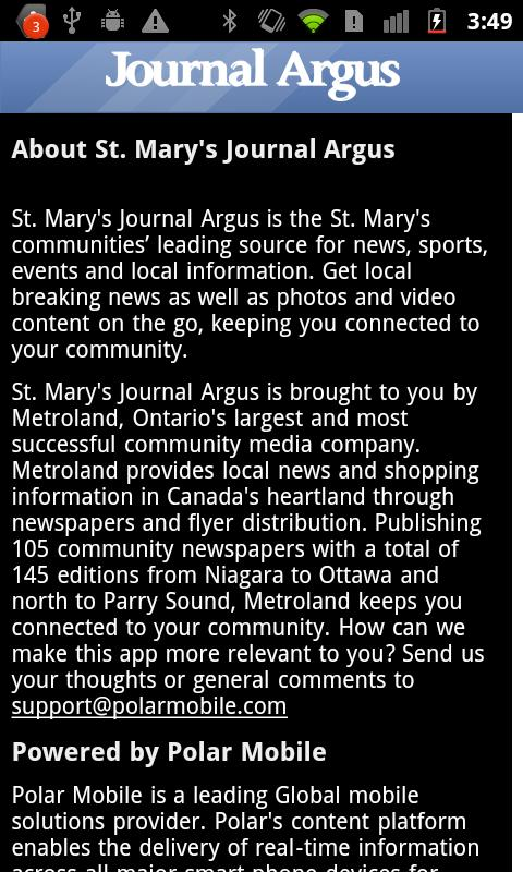 St. Mary's Journal Argus - screenshot