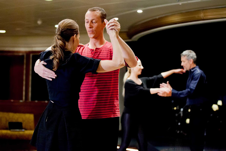 Try new things like ballroom dancing when you sail with Azamara cruises.