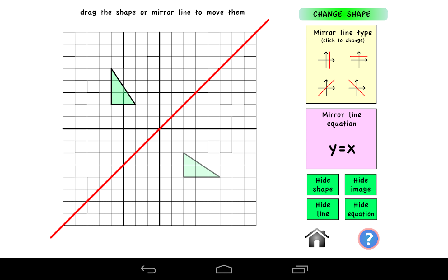 worksheet Transformation Geometry transformation geometry android apps on google play screenshot