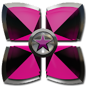 Next Launcher theme Pink Star