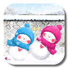 Funny Snowman Live Wallpaper icon