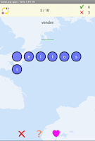 Screenshot of Hangman Verbs French - German