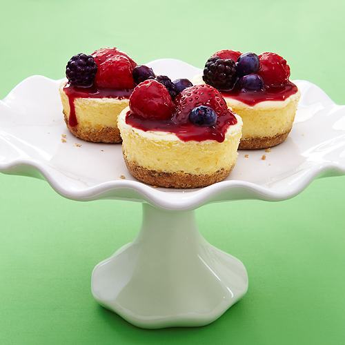Greek Yogurt Cheesecakes with Quick Berry Compote Recipe