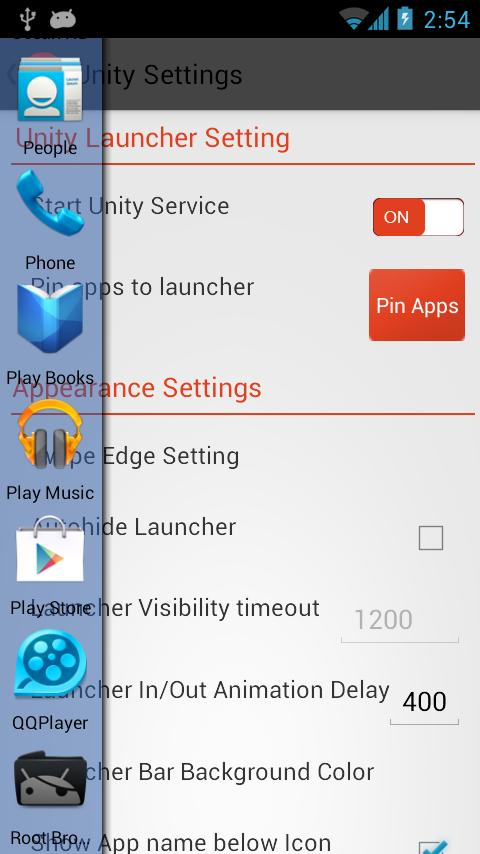 Unity Launcher Free - screenshot