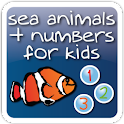 Sea Animals + Numbers for kids logo