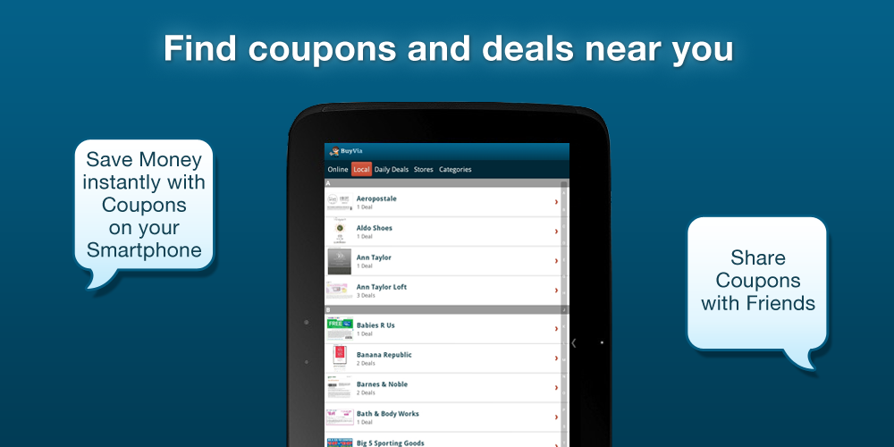 BuyVia Free Coupons & Deals- screenshot