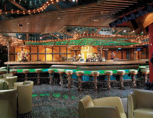 Carnival-Victory-Trident-Bar - Take in a live performance at the Trident Bar, in Carnival Victory's casino.