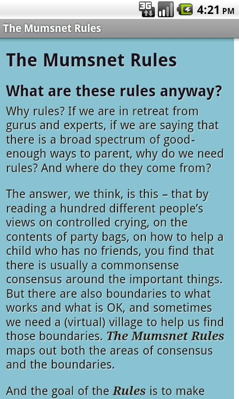 Babies: The Mumsnet Guide - screenshot