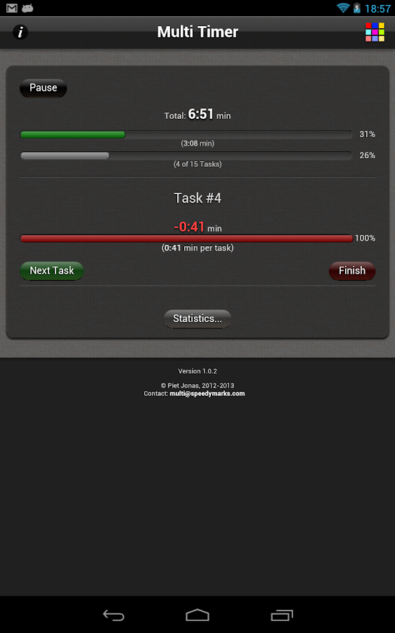 Multi Task Timer Free- screenshot