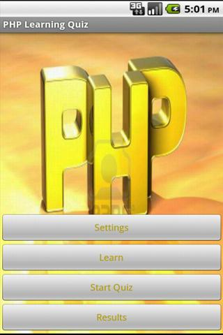 PHP Learning Quiz - screenshot