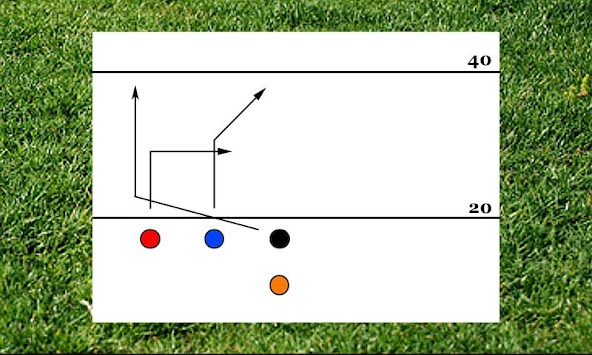 4 Man Flag Football Playbook Poster