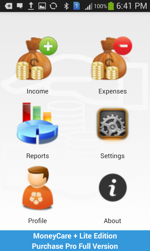 MoneyCare + Lite Edition- screenshot