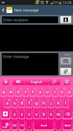 ピンクグロウのGOキーボードのテーマ