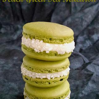 Peach Green Tea Macaron