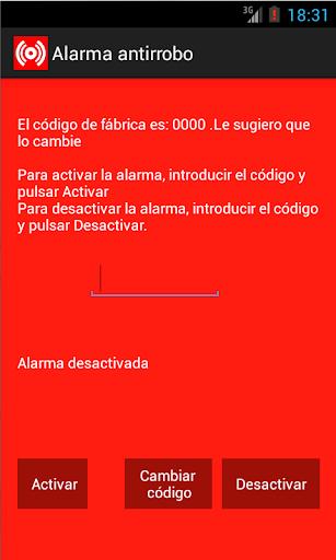 Alarma antirrobo