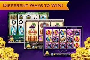 Screenshot of Slots Neverland: slot machines