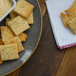 Homemade Paleo Herb Crackers.