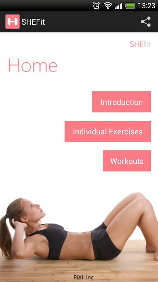 SHEfit: My fitness coach - screenshot