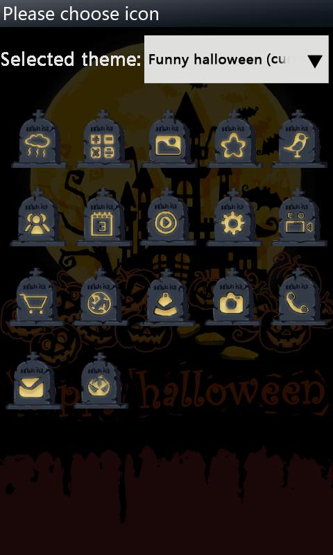 B-HalloweenNight GOLauncher EX - screenshot