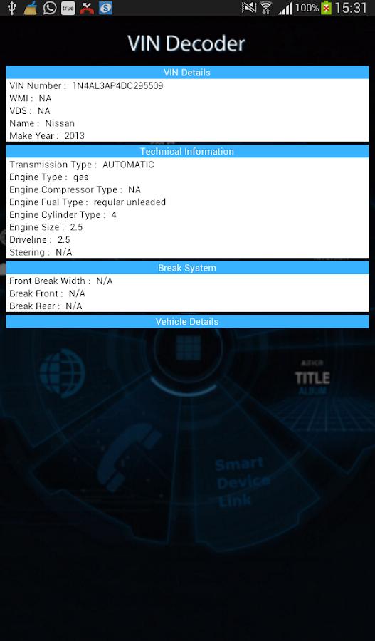 Vin Decoder - Aplicaciones Android en Google Play