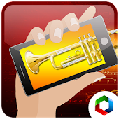 Play trumpet blowing simulator