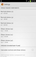 Screenshot of Analysis of Stress