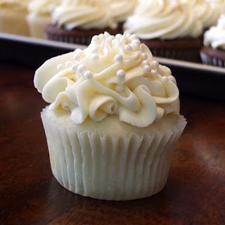 White Wedding Cake Cupcakes.