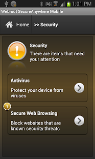 Webroot Security & Antivirus - screenshot thumbnail