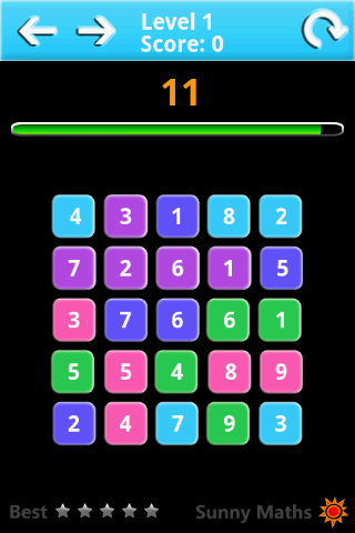 Sunny Maths Lite - screenshot