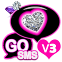 GO SMS THEME STITCH PINK HEART icon