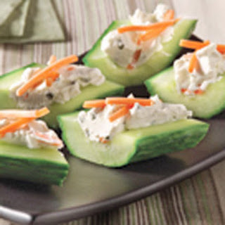Cream Cheese 'n Herb Cucumber Bites.