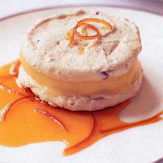 Hazelnut and Almond Macaroons with Orange Semifreddo.
