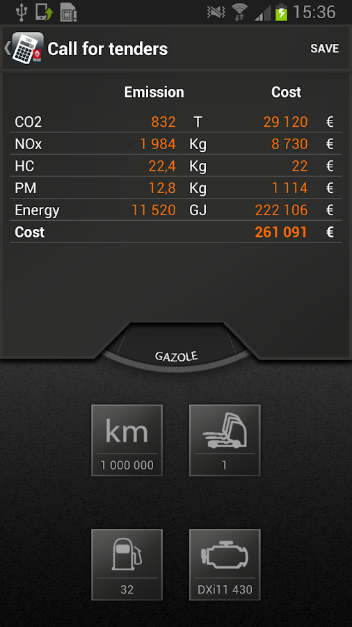 EcoCalculator- screenshot