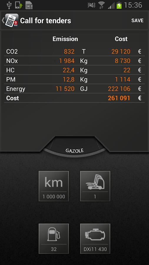 EcoCalculator - screenshot