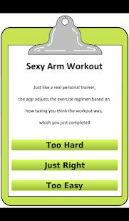 女士們性感 手臂 鍛煉
