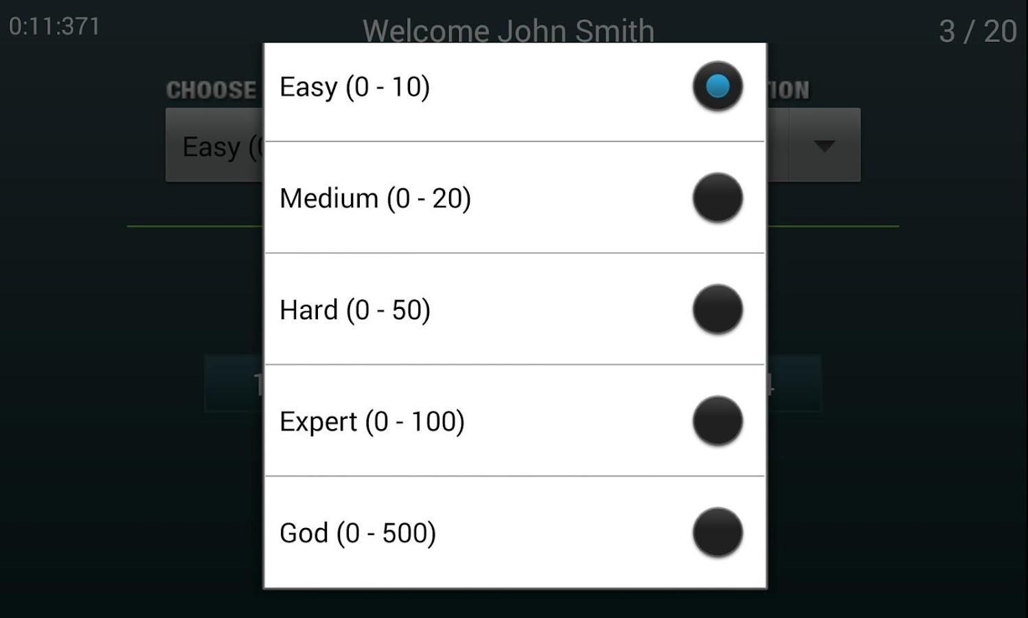 Numb3r Crunch - Mental Maths- screenshot