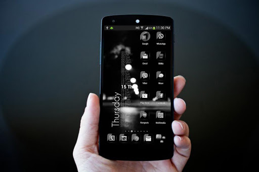 Glass Black Theme Icon Pack HD v1.2