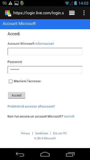 Hotmail Live Mail Segnaposto