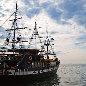 Old fregata by Plamen Stavrev - Transportation Boats