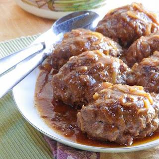 Salisbury Steak with Onion Gravy.
