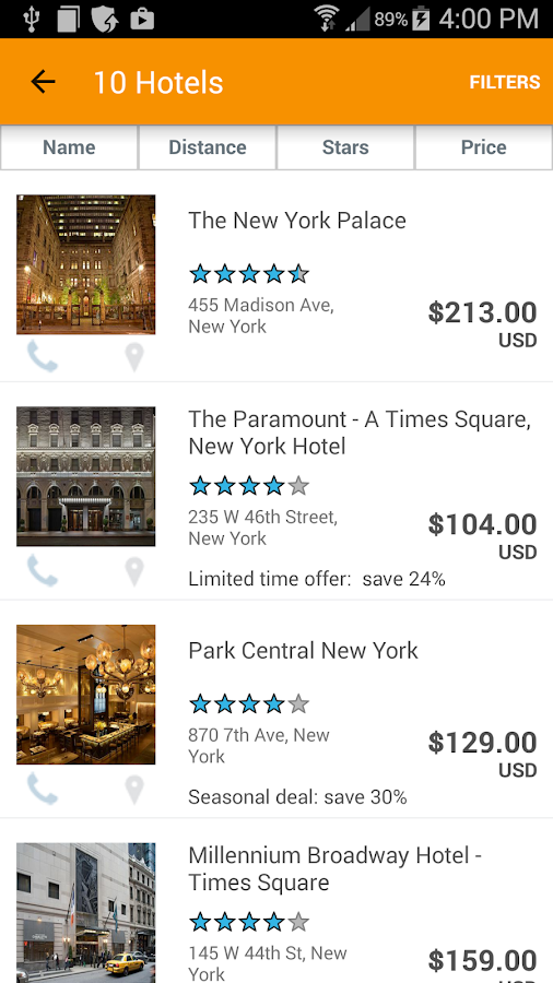 HotelPlanner Deals for Tonight- screenshot
