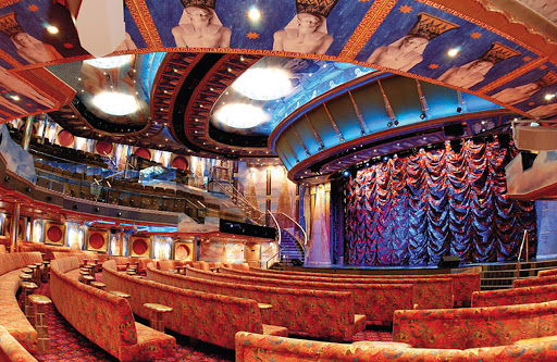 Costa-Mediterranea-Osiris-Theater - The Osiris Theater, Costa Mediterranea's main entertainment venue, offers productions every cruise night.