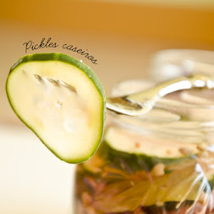 Cucumber Pickles and Red Onion