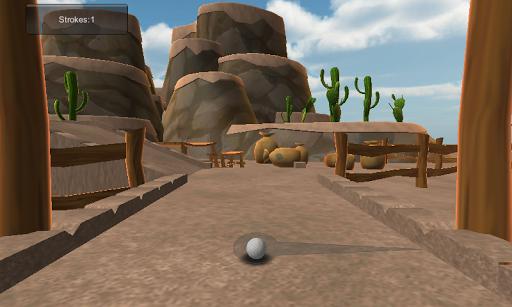 卡通沙漠迷你高爾夫球場