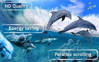 Screenshot of Happy Dolphins Live Wallpaper