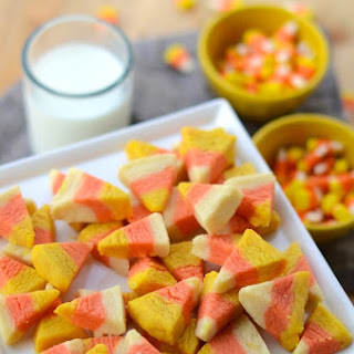 Candy Corn Cookie Bites.